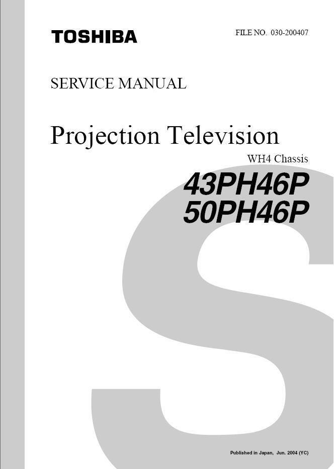 toshiba 43ph46p 50ph46p tv service repair manual wh4 rh cheapservicemanuals ecrater com Manual Book Service Station