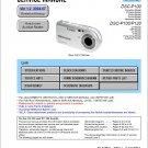 SONY DSC-P100 DSC-P120 DIGITAL CAMERA SERVICE REPAIR MANUAL