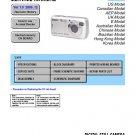 SONY DSC-S600 DIGITAL CAMERA SERVICE REPAIR MANUAL