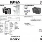 SONY DSC-S75 DSC-S85 DIGITAL CAMERA SERVICE REPAIR MANUAL