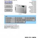 SONY DSC-T100 DIGITAL CAMERA SERVICE REPAIR MANUAL
