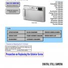 SONY DSC-T200 DIGITAL CAMERA SERVICE REPAIR MANUAL
