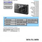 SONY DSC-W300 DIGITAL CAMERA SERVICE REPAIR MANUAL