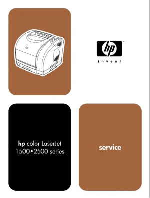 HP LASERJET 1500 2500 SERIES PRINTER SERVICE REPAIR MANUAL
