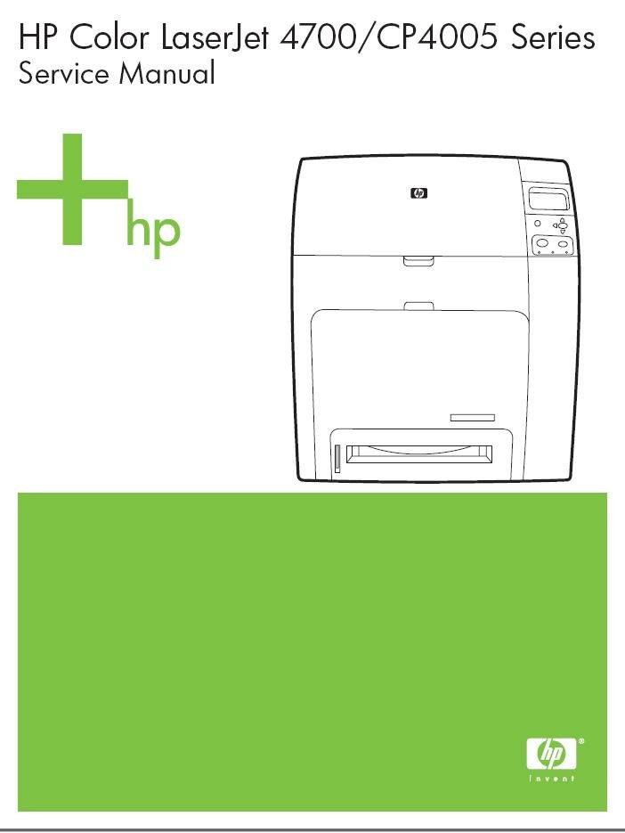 HP LASERJET 4700 CP4005 REPAIR SERVICE REPAIR MANUAL
