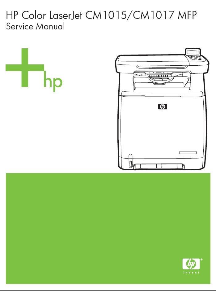 Hp Laserjet Cm1015 Cm1017 Mfp Printer Service Repair Manual