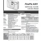 FUJIFILM FINEPIX A201 FUJI DIGITAL CAMERA SERVICE REPAIR MANUAL