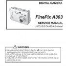 FUJIFILM FINEPIX A303 FUJI DIGITAL CAMERA SERVICE REPAIR MANUAL