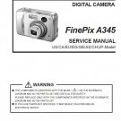 FUJIFILM FINEPIX A345 FUJI DIGITAL CAMERA SERVICE REPAIR MANUAL