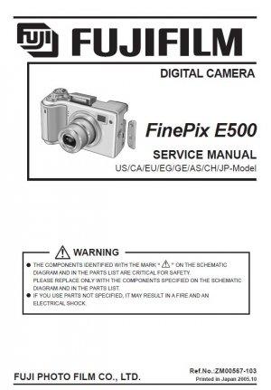 FUJIFILM FINEPIX E500 FUJI DIGITAL CAMERA SERVICE REPAIR MANUAL
