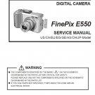 FUJIFILM FINEPIX E550 FUJI DIGITAL CAMERA SERVICE REPAIR MANUAL