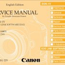 CANON EOS-1V SLR DIGITAL CAMERA SERVICE REPAIR MANUAL