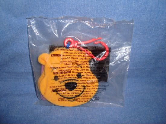 NEW McDonalds Happy Meal Toy Winnie The Pooh Message Pad # 1 Bear Yellow NIP