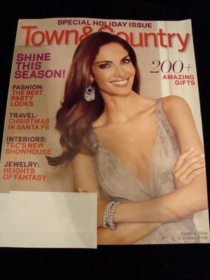 NEW Town & Country December 2009 Holiday Issue Eugenia
