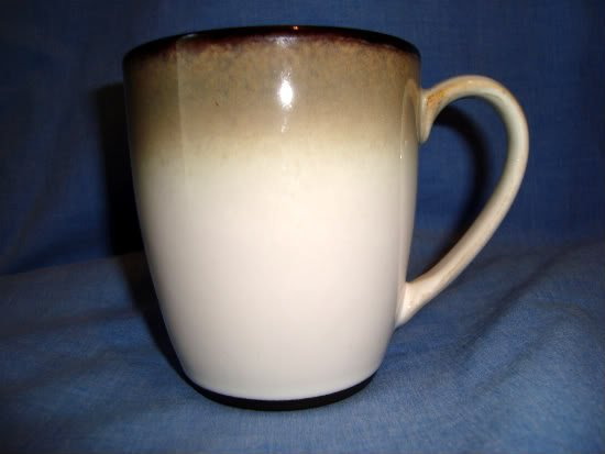 "Bed Bath & Beyond Sango Nova Black Coffee Mug 4932 Gray/Off-White 4"" Cream/Grey"