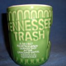 "Tennessee Opryland TN Trash Green Mug Cup 4"" Mountain Brew Souvenir Nashville"
