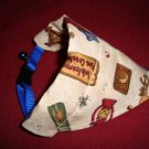 Small Breed Dog Cat Bandana Collar Cover Handmade Camping Camp Cotton Triangle