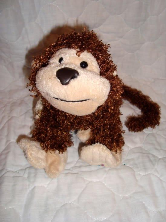 "GANZ Webkinz Plush Brown Tan Cheeky Monkey No Code 9"" Stuffed Animal Toy"
