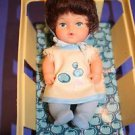 "Berry Bunch Baby Doll Vtg Basket Blueberry Brunette 6"" Eegee Goldberger 1979"