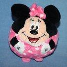 "TY Beanie Baby Ballz Disney MINNIE MOUSE 5"" Balls Pink Polka Dots Ball Toy Plush"