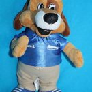 "Aarons LUCKY DOG 10"" Plush Stuffed Animal Soft Toy Blue Own It Shirt Anico Promo"