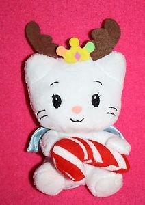 "Dan Dee Yuko Shimizu ANGEL CAT 6"" SUGAR Plush Soft Toy Hold Christmas Candy Cane"