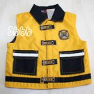 Firemans Vest Baby Q TODDLER BOYS 18 Months Yellow Navy Search & Rescue M Fleece