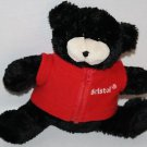 "Bristol Motor Speedway Black Plush BEAR 9"" Red Fleece Vest Zips Stuffed Nancy"