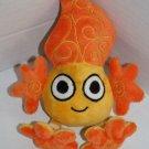 "Tangerine Press Orange FIRE FLAME 7"" Scholastic Character Plush Knit Legs 2009"