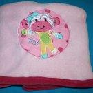 "Kidsline Girls Baby Blanket Little Miss Matched MONKEY Soft PINK Plush 30"" x 38"""