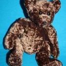 "Premier Toy TEDDY BEAR 8"" Soft Toy Chocolate Brown Shiny Plush Messenger Stuffed"
