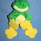 "Munchkin FROG S LEGGET 9"" Baby Teether Rattle Babies Soft Toy Plush Green Yellow"