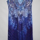 Closet Full Misses SMALL Dress Sparkle Chest Blue Sublimation Ruffle Sleeveless