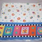 Fisher Price RECEIVING BABY BLANKET SNAILS FISH BUTTERFLY Thin Cotton Flannel