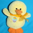 """Best Made Toys EASTER DUCK 6"""" Yellow Plush Chick Soft Toy Bow Stuffed No Sound"""