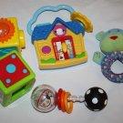 Baby Einstein House Hello GoodBye Spanish Sassy Spin Shine Rattle Lot Baby Toys