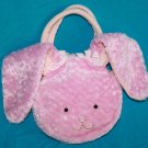 "North American Bear EASTER BUNNY RABBIT 5"" Goody Bag Purse Soft Pink Plush Tote"