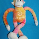"LAS VEGAS PEACE MONKEY 22"" Fiesta Tug A Lug Orange Plush Stuffed Soft Toy Ape"