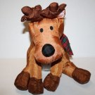 Gibson Greetings Plush Nylon REINDEER XMAS Stuffed Animal Soft Toy VTG 1993 Tag