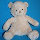 """Toys R Us FAO Beige Plush TEDDY BEAR 12"""" BABY Boy Sewn Eye Nose Stuffed Soft Toy"""
