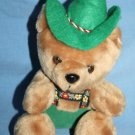 "TIROLER Alpine TEDDY BEAR 8"" Austria Soft Toy Plush Green Overalls Hat Stuffed"