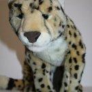 "FAO SCHWARZ Realistic CHEETAH LEOPARD Cat 20"" Big Plush Stuffed Animal Soft Toy"