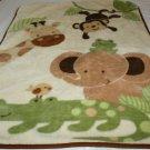 Little Bedding Nojo Baby Blanket Throw Warm Thick Plush Safari Elephant Monkey