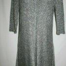 Love Fire MEDIUM Dress Heather Grey Soft Gray A Line 3/4 Sleeve Stretch Pullover