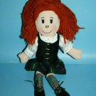 """The Heather Gift Co Scottish Dancer Soft Toy Doll 14"""" Red Yarn Hair Plush UK"""
