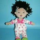 Fancy Nancy Plush Doll Best Friend Bree Black Yarn Hair Heart PJs Toy Stuffed