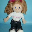 "Nanco Sea World 17"" Brown Yarn Hair Shirt Doll Stuffed Plush Sewn Eye Jeans 2004"