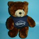 "Overnight LOGO Plush Teddy Bear 10"" Tank Top T Shirt Stuffed Soft Toy 1987 1999"