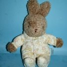 """Carters Classic EASTER BUNNY RABBIT 9"""" Rattle Plush Soft Toy Lovey If They Could"""