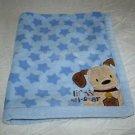 Just Born Baby Boy Blanket Blue Plush Stars Lil All Star Puppy Dog Corner Ball